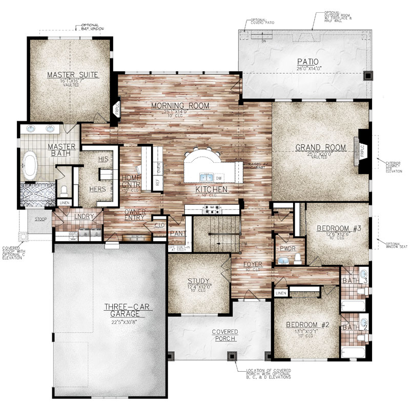 aspen plan by sopris homes main floor plan