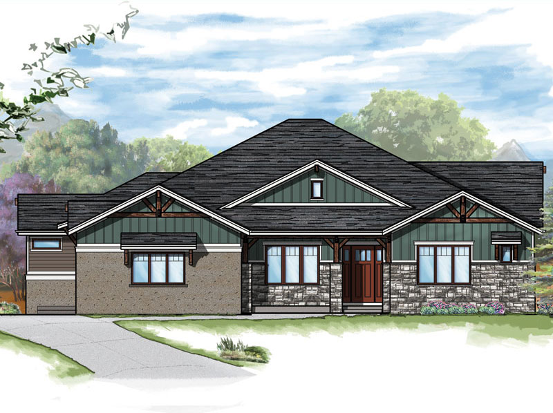 aspen plan by sopris homes front elevation