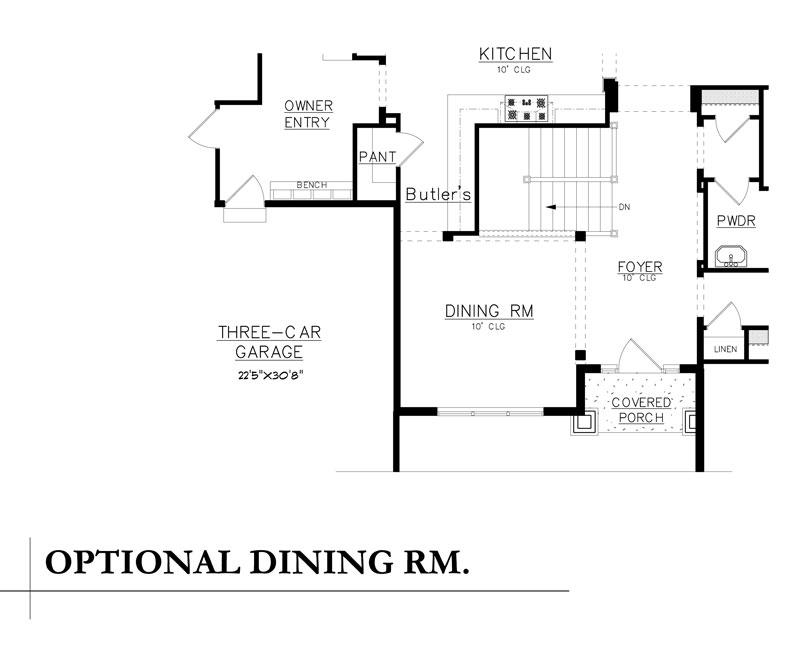 aspen plan by sopris homes alternate dining room option