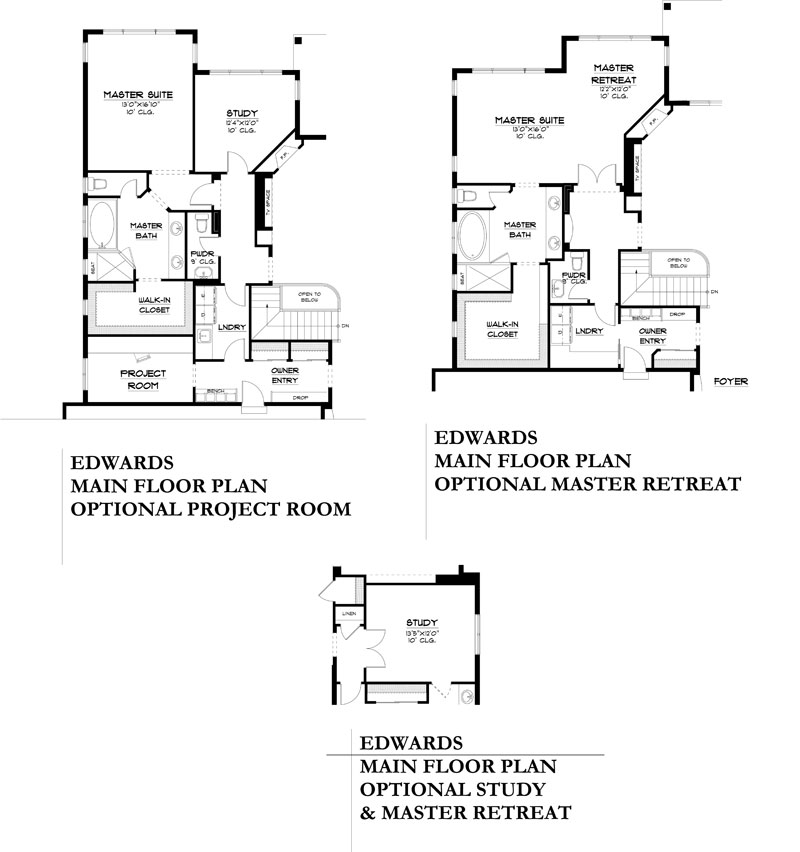 edwards model floor plan options