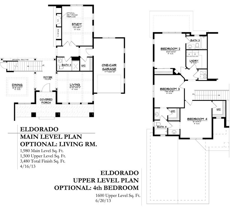 eldorado model floor plan options